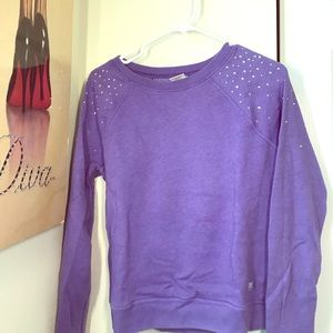 Purple Rhinestone Sweater!